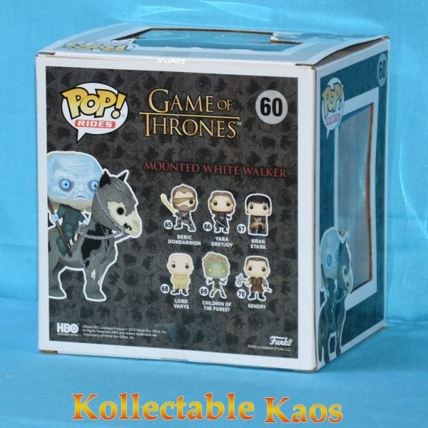 FUN37669 Gameofthrones White on Horse 2 600x600 - Game of Thrones - White Walker on Horse Pop! Rides Vinyl Figure #60