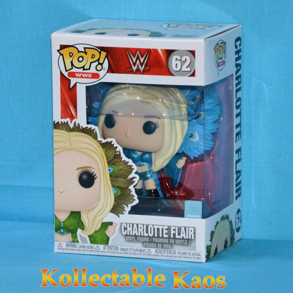 FUN38372 WWE Charlotte Flair Blue Pop 1 600x600 - WWE - Charlotte Flair in Blue Outfit Pop! Vinyl Figure (RS) #62