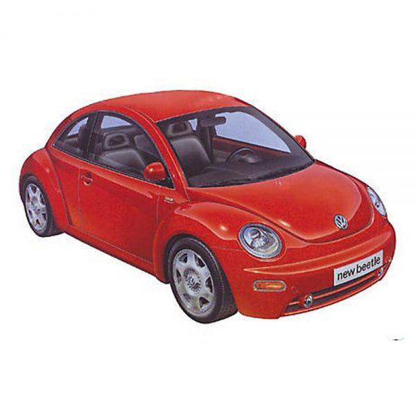 74 T24200 Volkswagen New Beetle 2 600x600 - 1:24 Tamiya - Volkswagen New Beetle Plastic Model Kit(T24200)