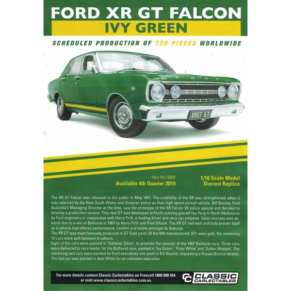 1:18 Ford XR GT Falcon - Ivy Green
