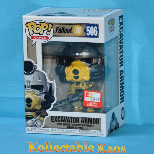 FUN39582 Fallout Excavator Pop Vinyl 1 600x600 - 2019 E3 Convention Exclusive - Fallout 76 - Excavator Armor Pop! Vinyl Figure (RS) #506