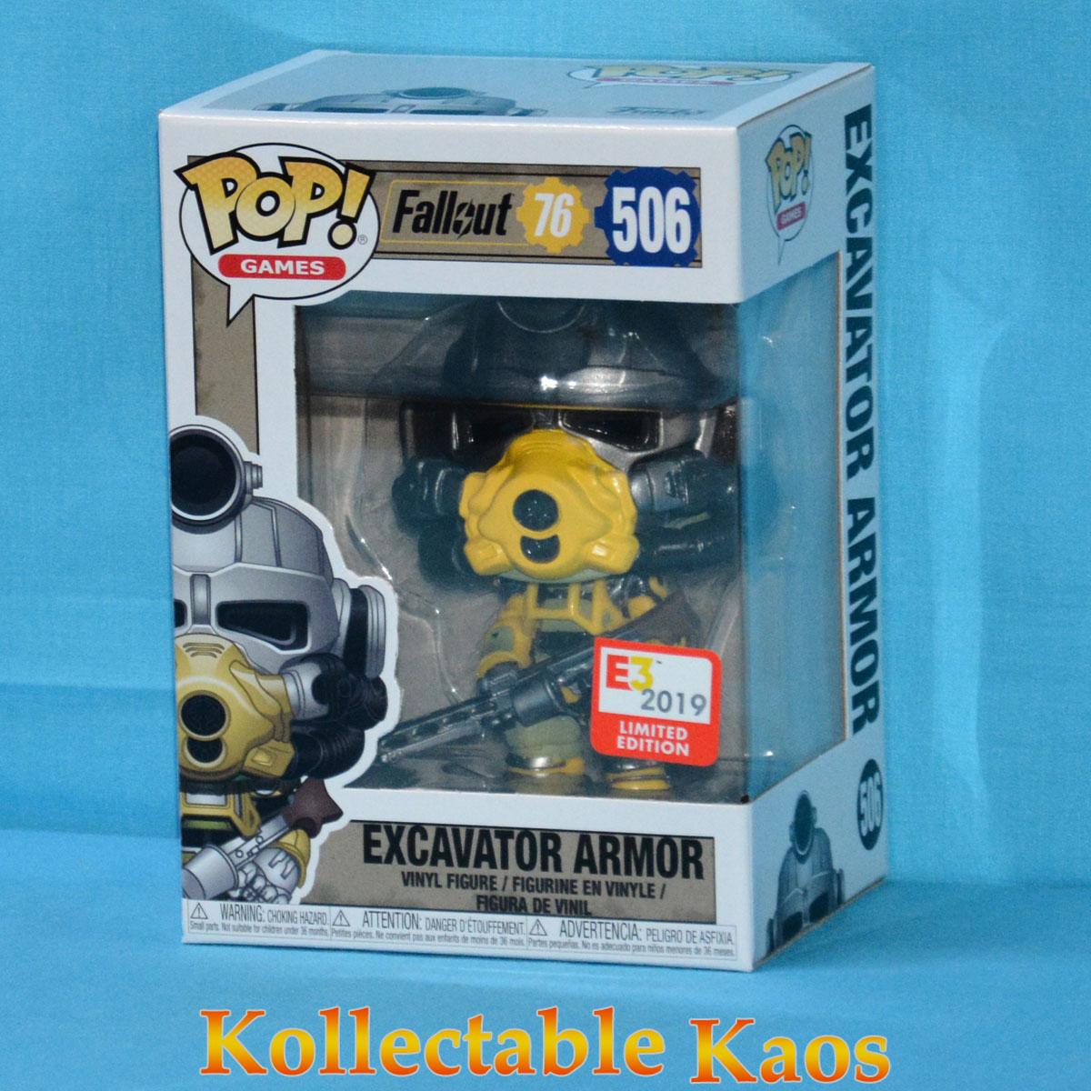 2019 E3 Convention Exclusive Funko Pop Excavator Armor #506 Fallout 76
