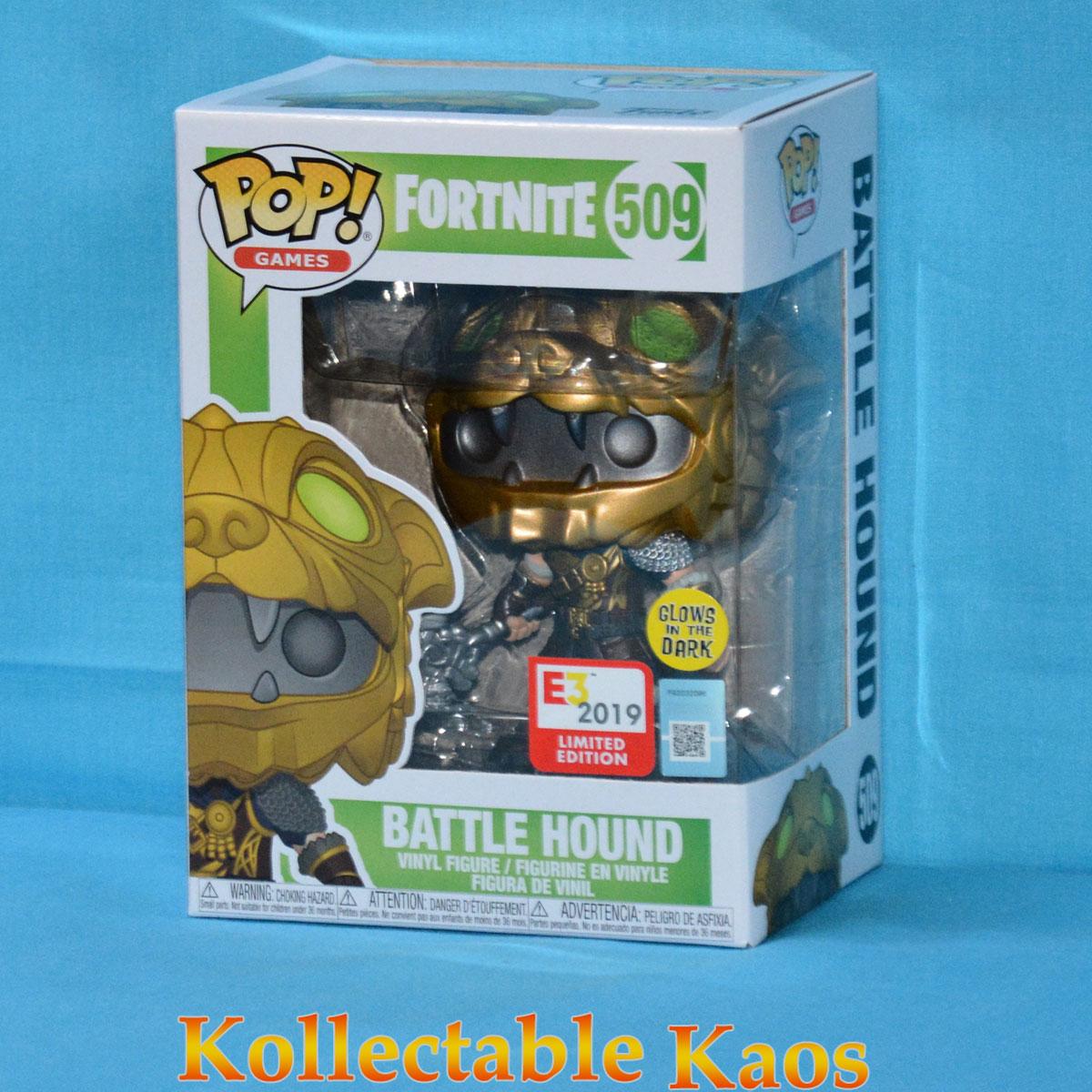 Fortnite 2019 E3 Convention Exclusive Battle Hound #509 Funko Pop