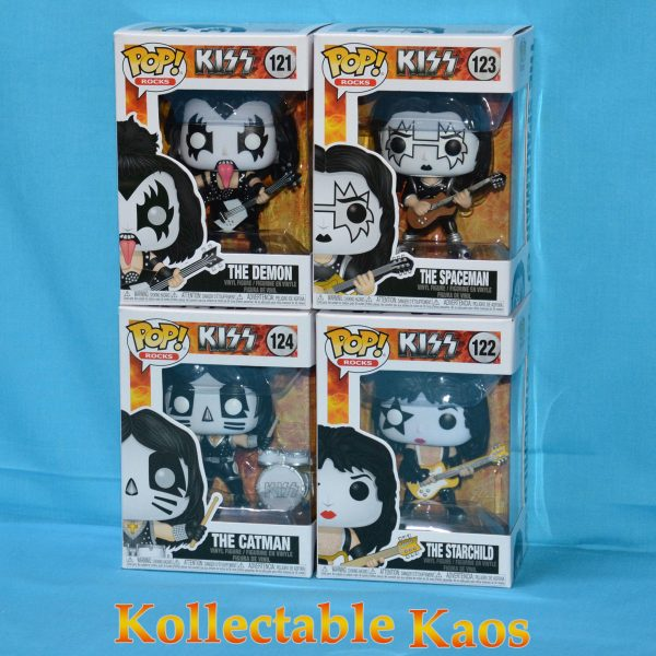 Kiss Pop Set 1 600x600 - KISS - KISS Set of Four Pop! Vinyl Figures