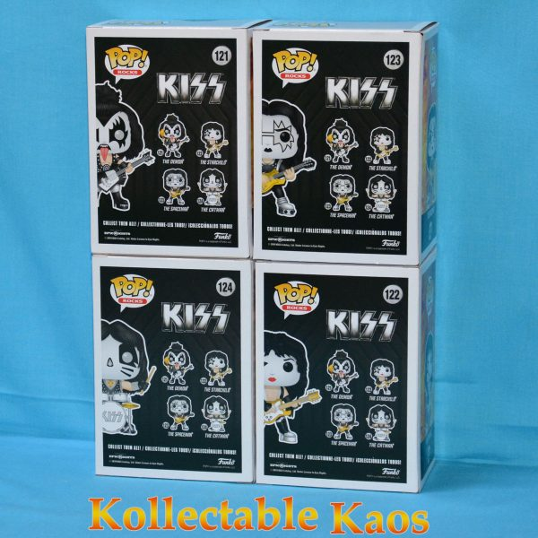 Kiss Pop Set 2 600x600 - KISS - KISS Set of Four Pop! Vinyl Figures