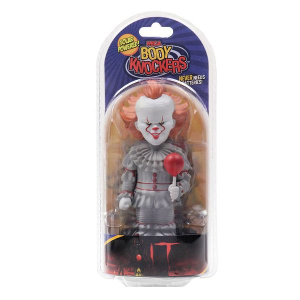 "NEC45465 It 2017 Pennywise Body Knocker 2 600x600 - It (2017) - Pennywise 15cm(6"") Solar Powered Body Knocker"