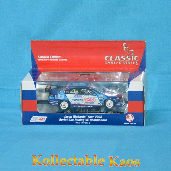 1:43 Classics - 2008 Sprint Gas Racing VE Commodore - Jason Richards