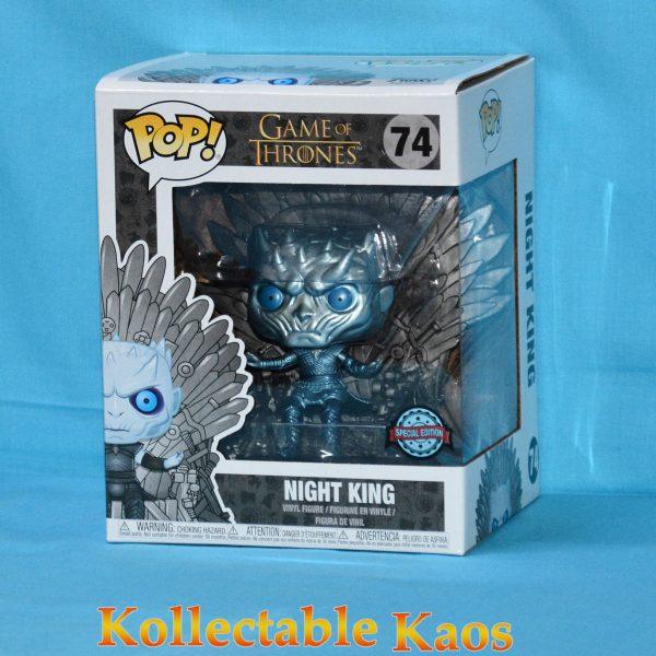 Game of Thrones - Night King on Throne Metallic Deluxe Pop