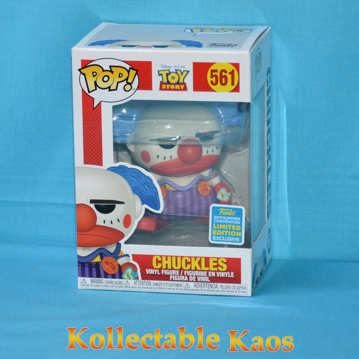 Funko Pop Disney Pixar Toy Story 561 Chuckles 2019 Summer Convention Exclusive