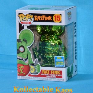 2019 SDCC SCE - Rat Fink - Rat Fink Green Chrome Pop