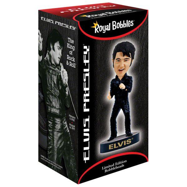Bobblehead Elvis Presley Black Leather 68 Comeback