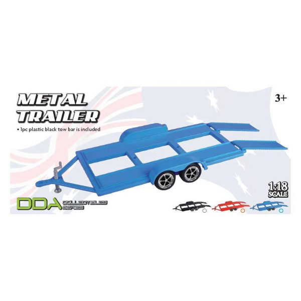 1:18 DDA - Metal Trailer with Plastic Tow Bar