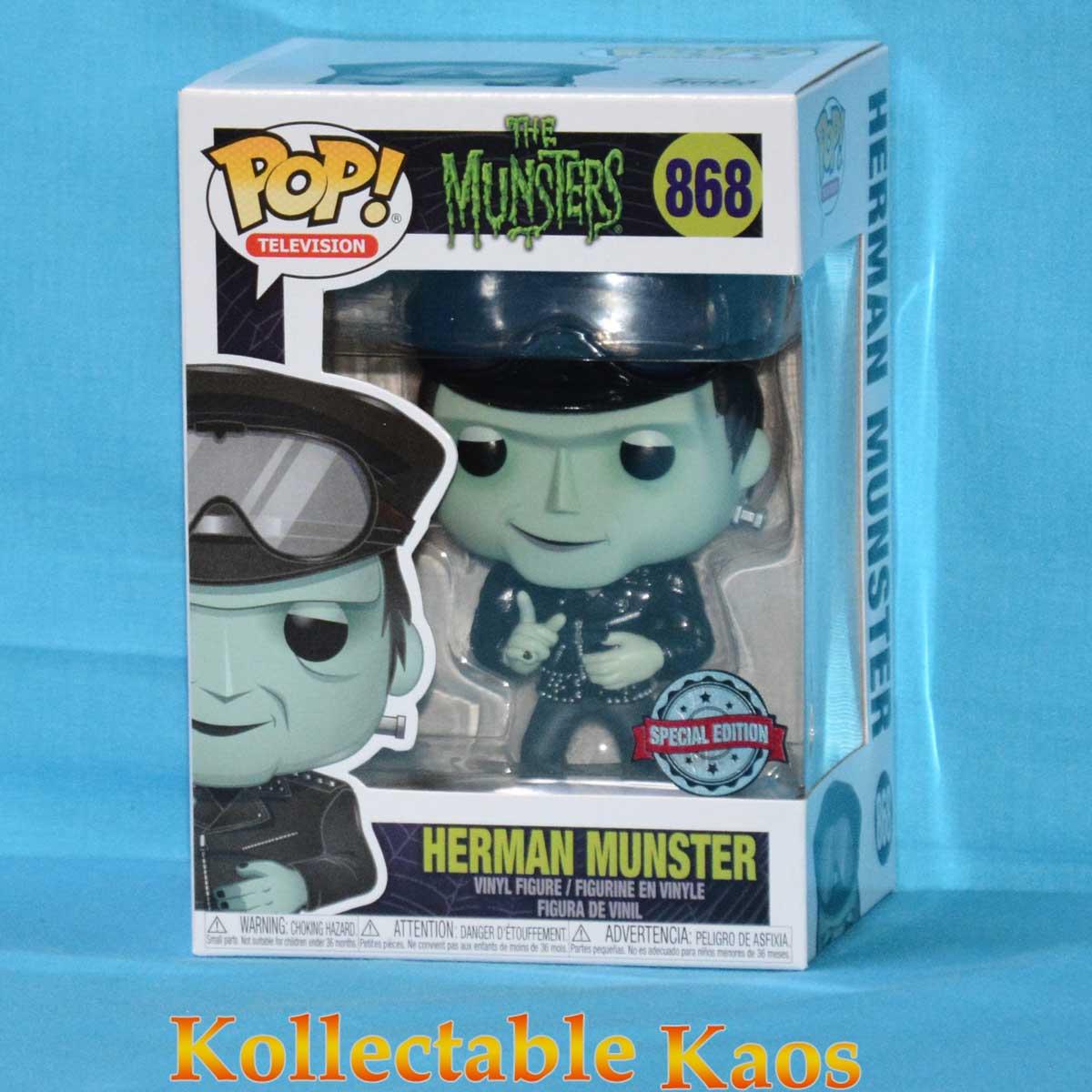 HOT Rod Herman Munster Funko Pop Figura in vinile I MOSTRI esclusivi Biker #868
