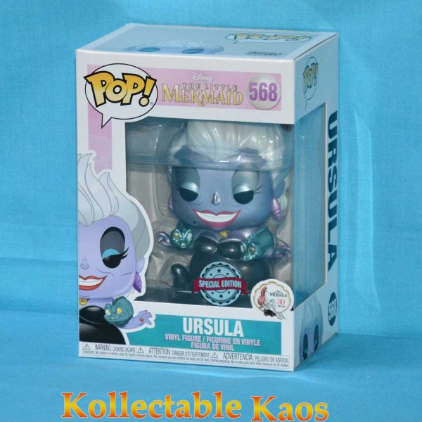 The Little Mermaid - Ursula with Eels Metallic Pop