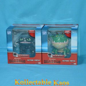 """How To Train Your Dragon - Dragons 6-7"""" Action Vinyls Toothless & Green Gronckle"""