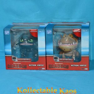 """How To Train Your Dragon - Dragons 6-7"""" Action Vinyls - Toothless and Meatlug"""