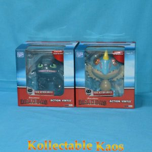 """How To Train Your Dragon - Dragons 6-7"""" Action Vinyls - Toothless and Stormfly"""