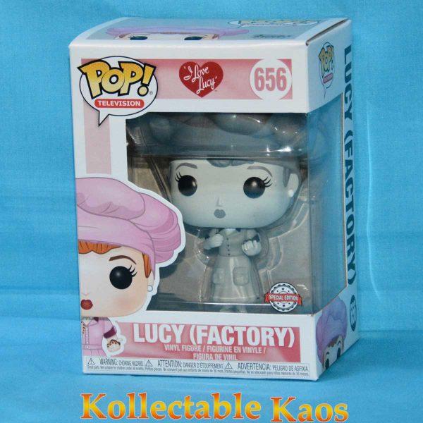 I Love Lucy - Lucy in Factory Uniform Black & White Pop! Vinyl Figure