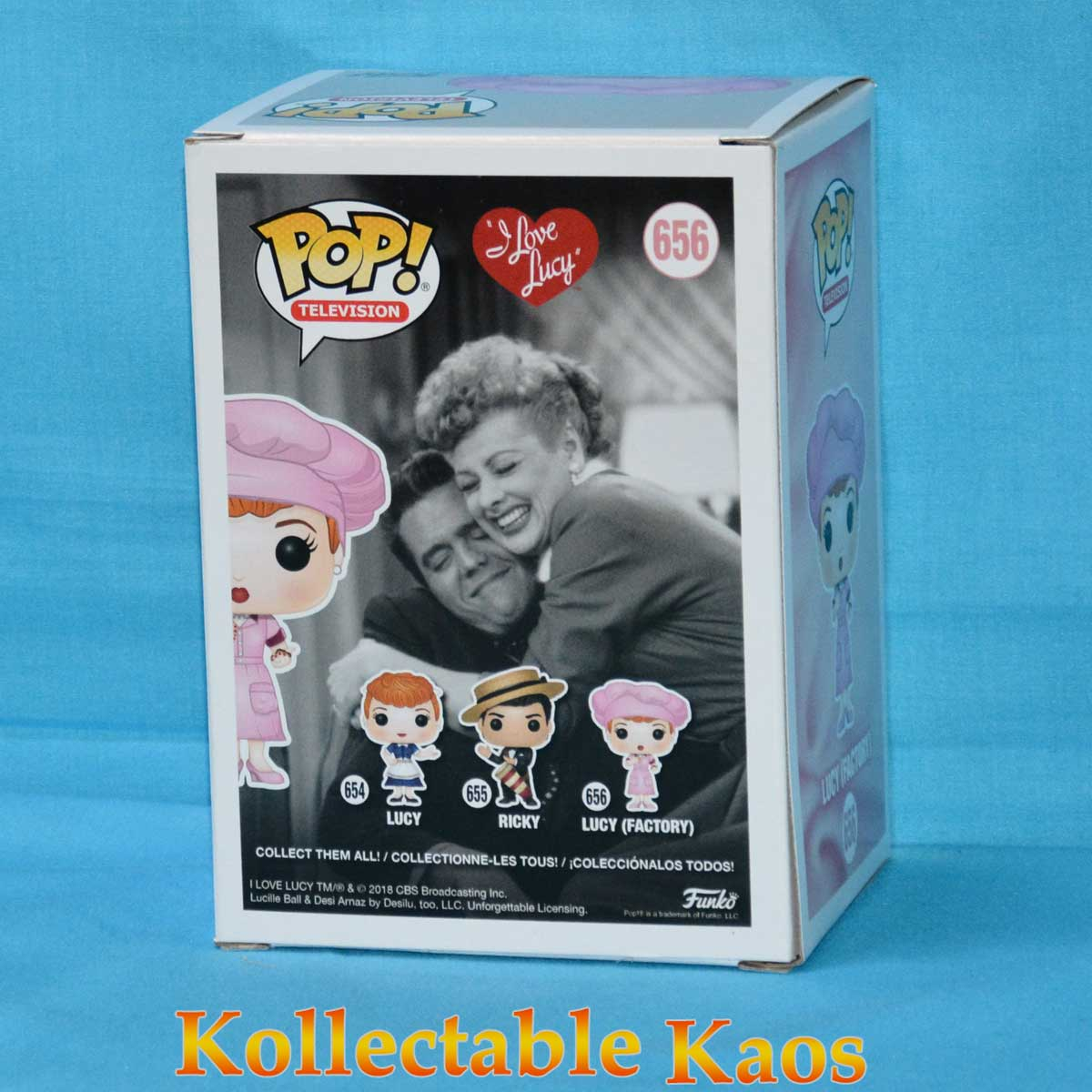 Lucy in Factory Uniform Black /& White Pop RS I Love Lucy Vinyl Figure