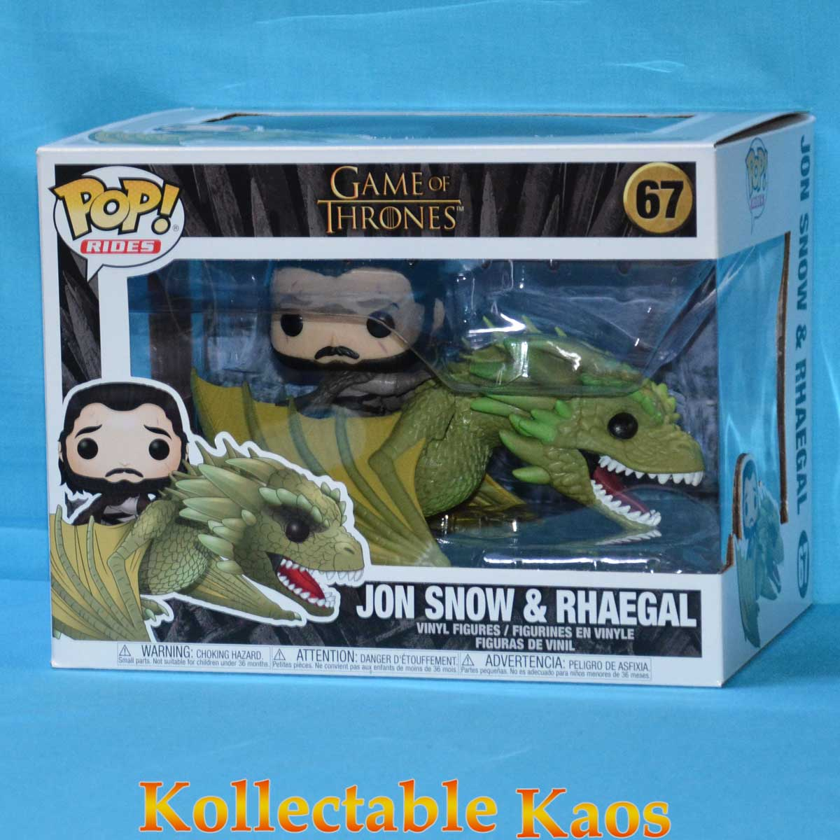 Jon Snow /& Rhaegal-Game of Thrones Funko Pop
