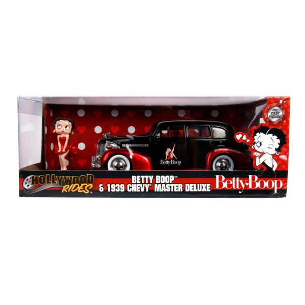 1:24 Jada - Betty Boop - 1939 Checy Master Deluxe with Figure Hollywood Ride