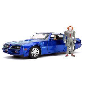 1:24 Jada - It (2017) - 1977 Pontiac Firebird with Figure Hollywood Ride