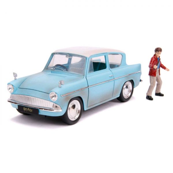 1:24 Jada - Harry Potter - 1959 Ford Anglia with Figure Hollywood Ride