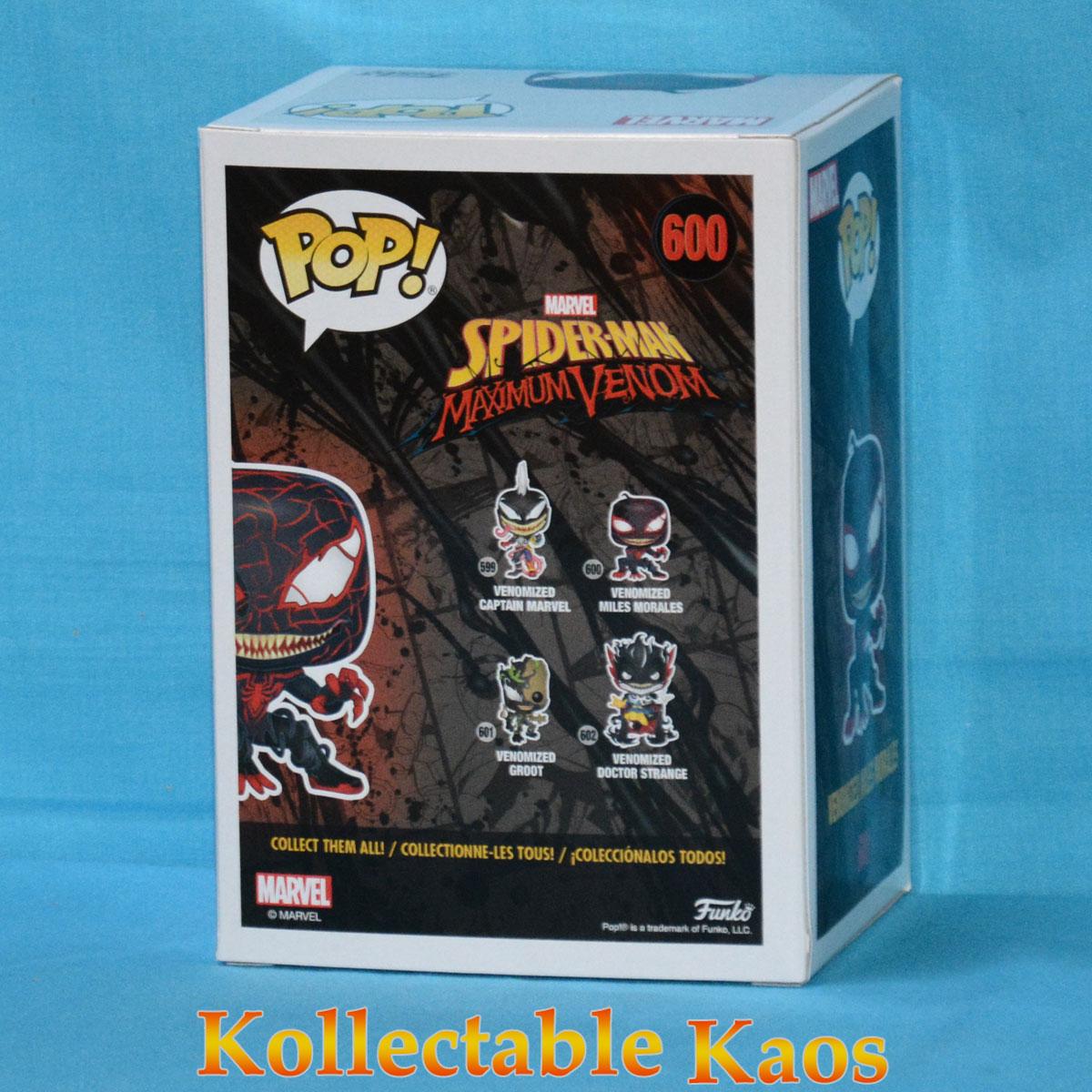 Spider-Man maximum Venom Capitaine Marvel Pop Vinyl Figure 599 New Funko venomised