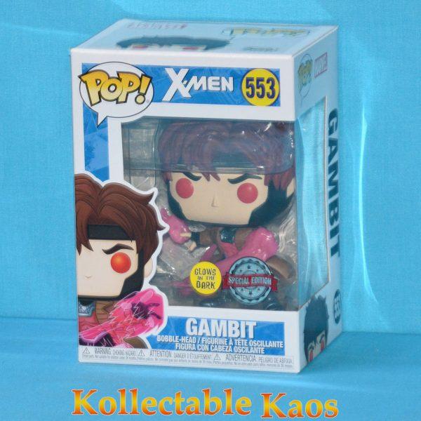 X-Men - Gambit with Cards Translucent Glow in the Dark Pop! Vinyl Figure