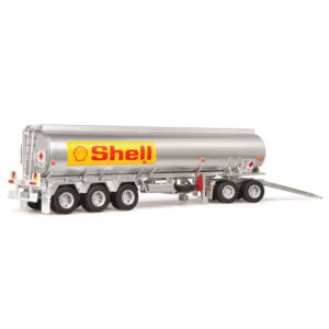 1:64 Highway Replicas - Shell Tanker Road Train - Tanker Truck with Dolly