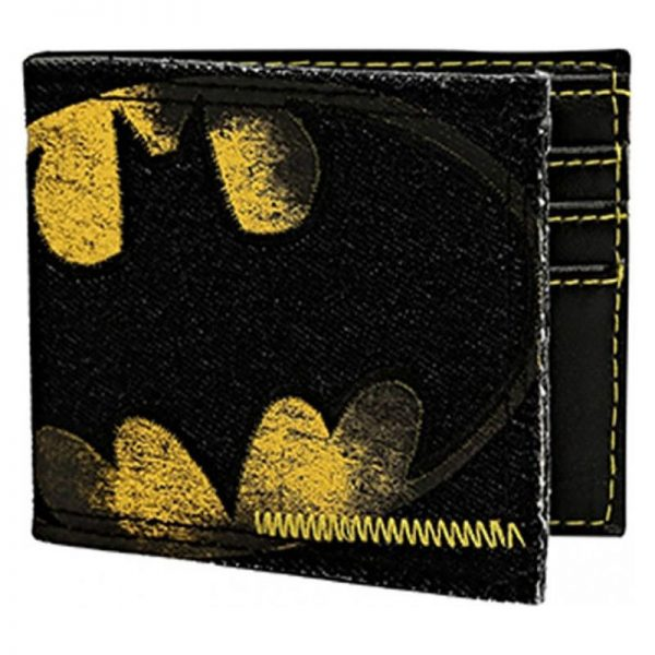 Batman Logo Denim Bi-fold Wallet