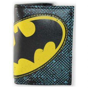 Batman Halftone Applique Tri-fold Wallet