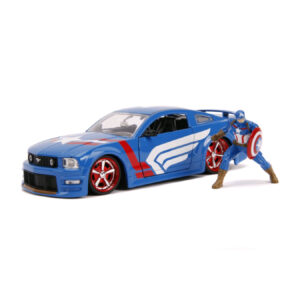 1:24 Jada Hollywood Rides - Captain America - 2006 Ford Mustang GT