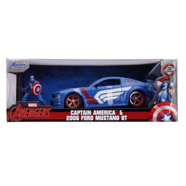 1:24 Jada Hollywood Rides - Captain America - 2006 Ford Mustang GT
