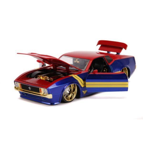 1:24 Jada Hollywood Rides - Captain Marvel - 1973 Ford Mustang Mach 1