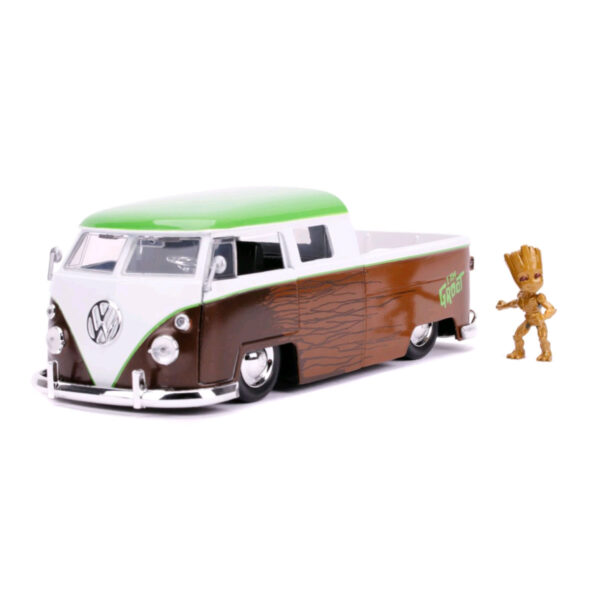 1:24 Jada Hollywood Rides - Guardians of the Galaxy: Vol. 2 - 1962 Volkswagon Bus with Groot