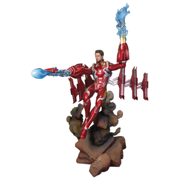 """Avengers 3 - Iron Man Mark 50 Unmasked Marvel Deluxe Gallery 22cm(9"""") PVC Diorama Statue"""