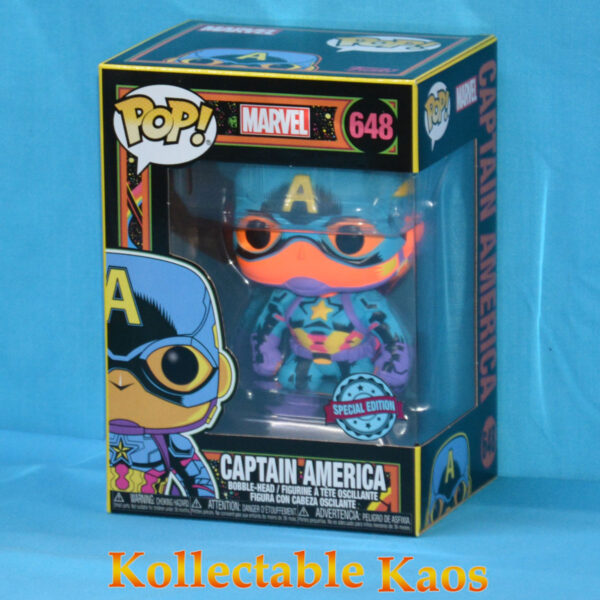 Marvel: Blacklight - Captain America Pop! Vinyl Figure