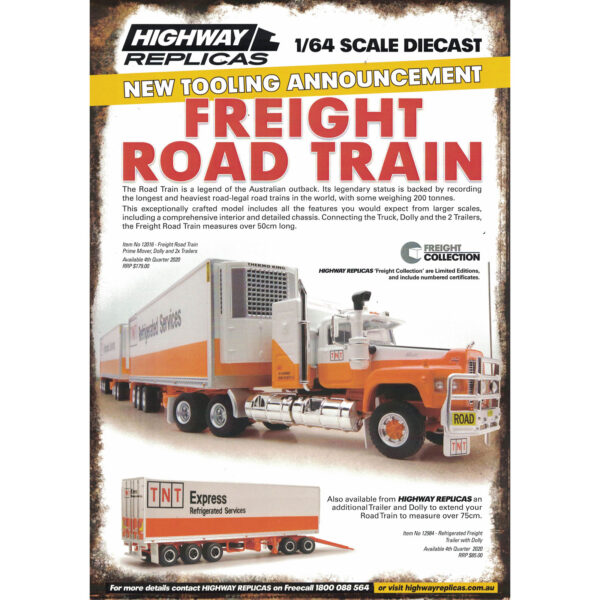 1:64 Highway Replicas - Freight Road Train - TNT Refrigerated Services