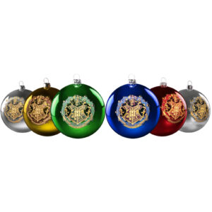 Harry Potter - Hogwarts Christmas Bauble 6-Pack