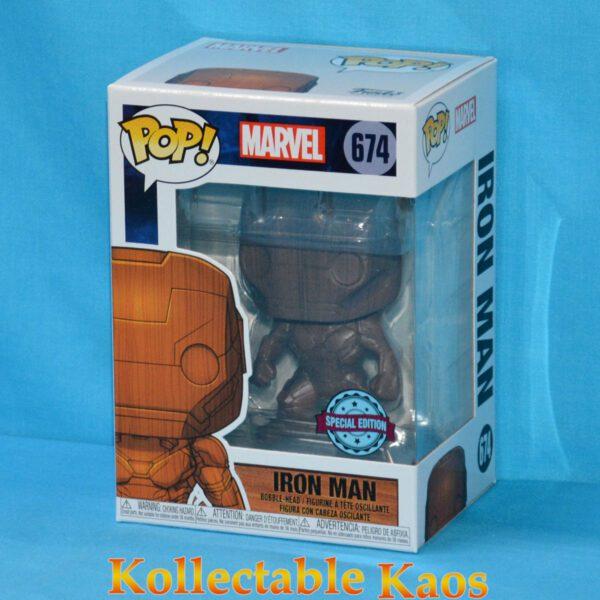 Iron Man - Iron Man Wood Deco Pop! Vinyl Figure