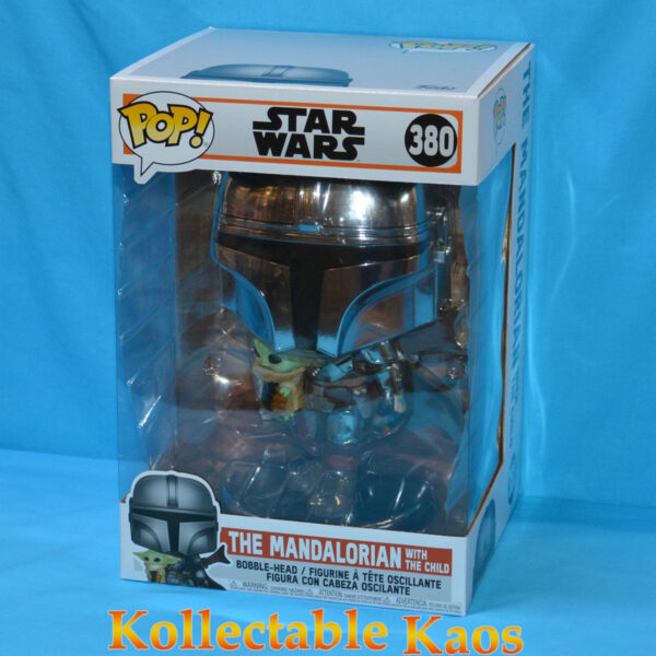 "Star Wars - The Mandalorian Chrome Armour with The Child 25cm(10"") Pop! Vinyl Figure"