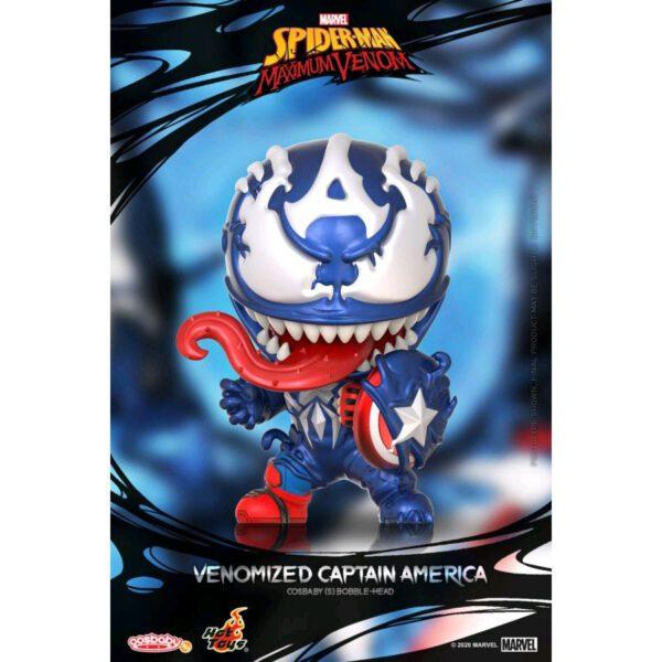 Spider-Man: Maximum Venom - Venomized Captain America Cosbaby (S) Hot Toys Figure