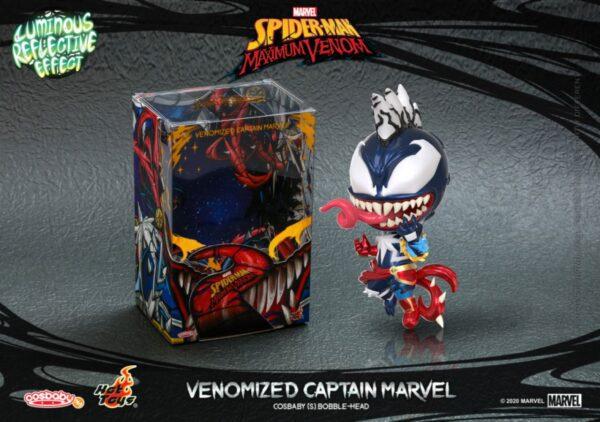 Spider-Man: Maximum Venom - Venomized Captian Marvel Cosbaby (S) Hot Toys Figure