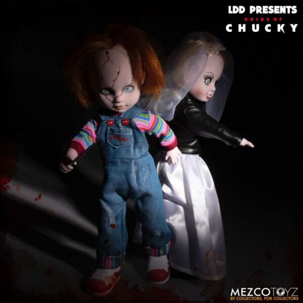 """Bride of Chucky - Chucky and Tiffany 25cm(10"""") Living Dead Dolls 2-Pack"""