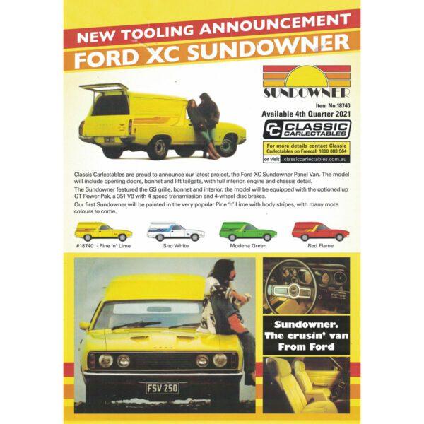 1:18 Ford XC Sundowner - Pine 'n' Lime
