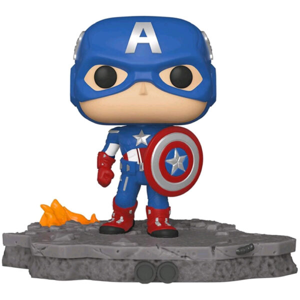 The Avengers - Captain America Assemble Diorama Deluxe Pop! Vinyl