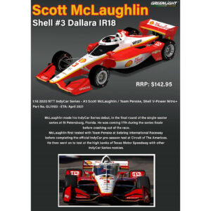 1:18 Greenlight - 2020 NTT IndyCar Series - #3 Scott McLaughlin / Team Penske, Shell V-Power Nitro+