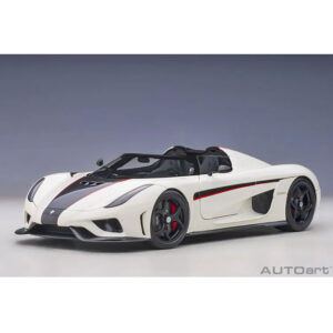 1:18 AutoArt - Koenigsegg Regera - White/Black Carbon with Red Accents