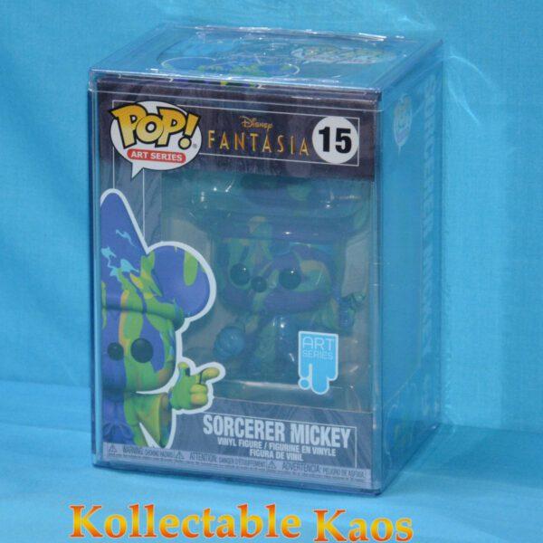 Fantasia - Sorcerer Mickey Purple & Green Artist Series 80th Anniversary Pop! Vinyl Figure with Pop! Protector